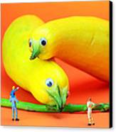 Family Watching Animals In Zoo Canvas Print by Paul Ge