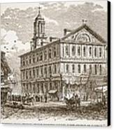 Faneuil Hall, Boston, Which Webster Canvas Print