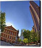 Faneuil Hall Square Canvas Print by Joann Vitali