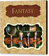 Fantasy Button Canvas Print by Mike Savad