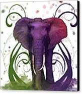 Fantasy Elepant Canvas Print by Diana Shively
