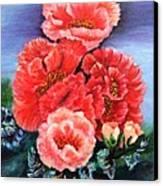 Fantasy Flowers Canvas Print by Janis  Tafoya