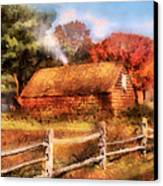 Farm - Barn - Our Cabin Canvas Print by Mike Savad