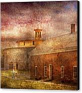 Farm - Barn - Shaker Barn  Canvas Print by Mike Savad