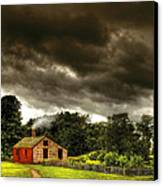 Farm - Barn - Storms A Comin Canvas Print by Mike Savad