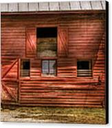 Farm - Barn - Visiting The Farm Canvas Print by Mike Savad