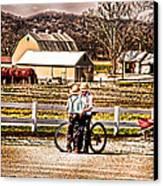 Farm Boys Country Exchange Canvas Print by Randall Branham