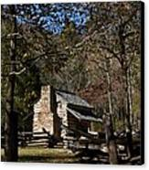 Farm Cabin Cades Cove Tennessee Canvas Print