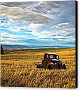 Farm Field Pickup Canvas Print