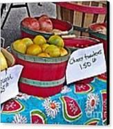 Farm Fresh Produce At The Farmers Market Canvas Print