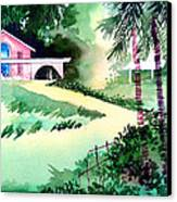 Farm House New Canvas Print by Anil Nene