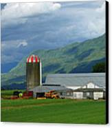 Farm In The Valley Canvas Print