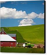 Farm Machinery Canvas Print by Inge Johnsson