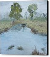 Farm Pond Canvas Print by Dwayne Gresham