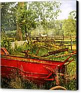 Farm - Tool - A Rusty Old Wagon Canvas Print by Mike Savad