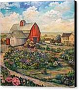 Farm Woman Canvas Print by Kendra Sorum