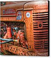 Farmall Tractor Canvas Print by Bill Wakeley