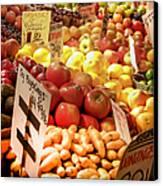 Farmers Market Canvas Print by Karen Wiles