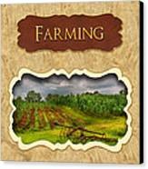 Farming And Country Life Button Canvas Print