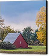 Farmstead With Fall Colors Canvas Print by Paul Freidlund