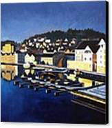 Farsund In Winter Canvas Print by Janet King