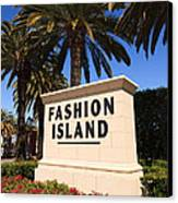 Fashion Island Sign In Orange County California Canvas Print by Paul Velgos