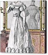 Fashion Plate Of A Lady In Evening Canvas Print