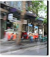 Fast Paced City Life - Bangkok Thailand - 01132 Canvas Print by DC Photographer