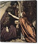 Father Father Tell Me What Ails Thee With Dismay Thou Art Filling Thy Child Canvas Print by Arthur Rackham