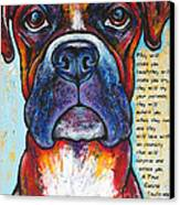 Fawn Boxer Love Canvas Print