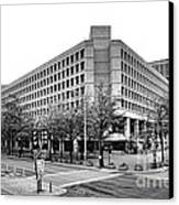 Fbi Building Front View Canvas Print by Olivier Le Queinec