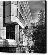 Fbi Building Modern Fortress Canvas Print by Olivier Le Queinec