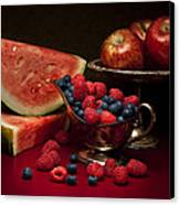 Feast Of Red Still Life Canvas Print