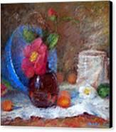Featured Blue Bowl   Canvas Print by Nancy Stutes