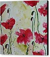 Feel The Summer - Poppies Canvas Print by Ismeta Gruenwald
