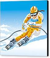Female Downhill Skier Winter Sport Canvas Print by Frank Ramspott