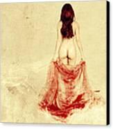 Female Nude Canvas Print by Jelena Jovanovic