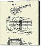 Fender Floating Tremolo 1961 Patent Art Canvas Print