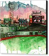 Fenway Park Canvas Print by Michael  Pattison