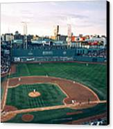 Fenway Park Photo - Inside View Canvas Print by Horsch Gallery