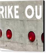 Fenway Park Strike - Out Scoreboard  Canvas Print