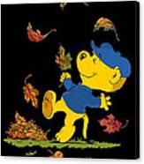 Ferald Dancing Amongst The Autumn Leaves Canvas Print