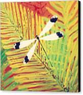 Fern Dragon Canvas Print by Anna Skaradzinska