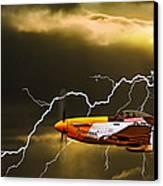 Ferocious Frankie In A Storm Canvas Print by Meirion Matthias