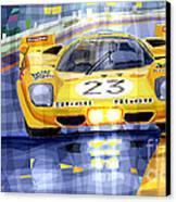 Ferrari 512 S Spa 1970 Derek Bell  Canvas Print by Yuriy  Shevchuk