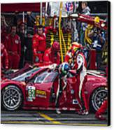 Ferrari Of Vancouver Canvas Print by Bill Linhares