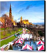Festive Princes Street Gardens - Edinburgh Canvas Print