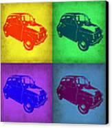 Fiat 500 Pop Art 1 Canvas Print by Naxart Studio