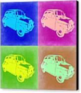 Fiat 500 Pop Art 2 Canvas Print