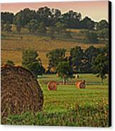 Field Of Hay Canvas Print